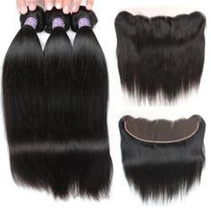 Hair Extensions & Wigs Search For Flights Ali Julia Hair 360 Lace Frontal Closure With Bundles Brazilian Straight Human Hair Bundles With Closure Remy Hair Extensions High Quality