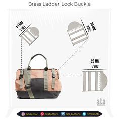 We are pleased to introduce the brass ladder lock buckle that we just started to manufacture in three different sizes. #turkishproducts #snapbuttons #atatextile #trade #atabuttons #textileaccessories #madeinturkey #turkey