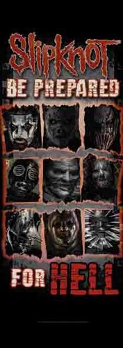 Drapeau de Porte SLIPKNOT - Prepared For Hell - http://rockagogo.com