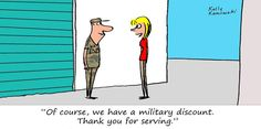 Thank you for your service, veterans, today and every day. #veteransday #selfstorage #militarydiscount #cartoon
