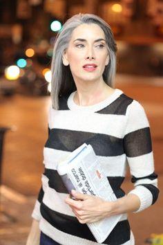 Manon Crespi... Quien dice que con canas no se puede tener estilo :)