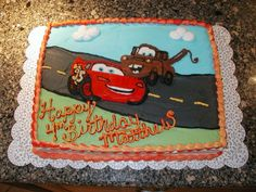 Pixar Cars Lightening Mcqueen on Cake Central