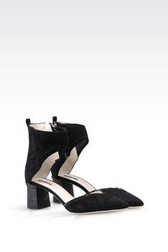 Women Slingbacks Giorgio Armani SUEDE PUMP - Official Online Store