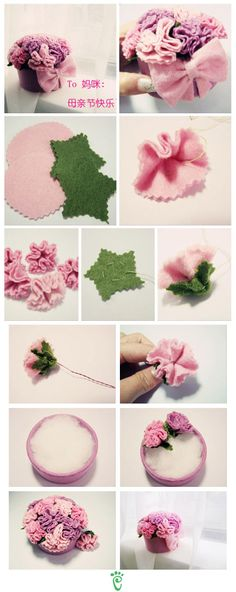 flores faciles de fieltro