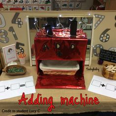 Adding machine made by my student Lucy.