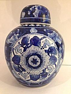Blue and White Ginger Jar on Etsy, $50.00