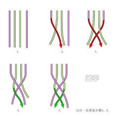 The four strands series (the flat like) - Lanting - Lanting knot art
