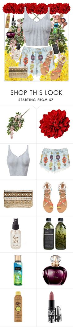 """Untitled #344"" by designer-mae ❤ liked on Polyvore featuring Lipsy, Skemo, Olivine, AMBRE, Forever 21, MAC Cosmetics, Terre Mère, summerstyle and summer2016"