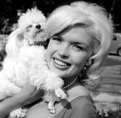 Jayne Mansfield and her poodle, Doctor