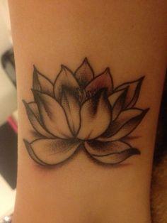 Astonishing Realistic Lotus Flower Tattoo Design, New Flower Tattoos October 2017