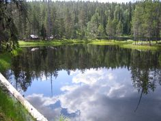 Small lake next to Korouoma canyon trail, Posio, Finland.