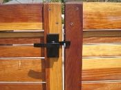 Nero Contemporary Lever Gate Latch Pkg for Double Gates