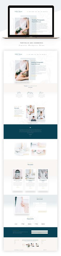 Halle Photography Divi Child Theme by Lovely Confetti on Creative Market Website Layout, Website Design, Website Styles, Website Web, Website Themes, Website Ideas, Feminine Photography, Love Photography, Photography Website