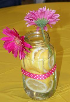 Pink Lemonade Party Centrepieces