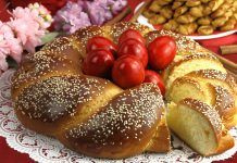 Greek Easter Bread 'Tsoureki' Recipe - Greek Recipes Recipe brought to you by Peter Minaki at Kalofagas. ca Every Greek household will have this Greek Easter bread as part of the table. Greek Easter Bread, Greek Bread, Easter Bread Recipe, Easter Recipes, Greek Sweets, Greek Desserts, Greek Recipes, Fun Desserts, Tsoureki Recipe