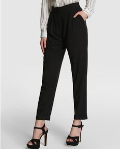Pantalón de mujer Fórmula Joven negro de cintura alta