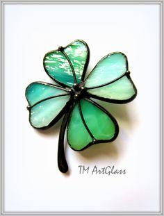 Earrings Stained Glass leaf   TM-ArtGlass-Lviv - on ArtFire
