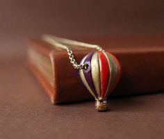Hot Air Balloon Charm Necklace