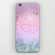 bdb48e5b9c87b Unicorn Girls Glitter Hearts #2 #shiny #pastel #decor #art #society6