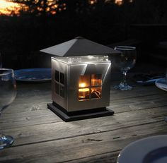 LED Lantern - 18 Lumens of light from a single Tealight. Fabulous for the patio, RV or even emergency lighting. http://www.heirloomlinens.com/product.aspx?productid=1317=83