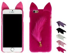 Luxury Cute plush Cat Case For iPhone 6/6S Animal 3D Plush Cat Lovely Case For iPhone 6/6S 4.7 plus 5.5 Back Cover Iphone 6 Cases, Iphone 6 Plus Case, 5s Cases, Iphone 5s, Apps For Teens, Cheap Iphones, 6s Plus Case, Cute Plush, Cat Ears