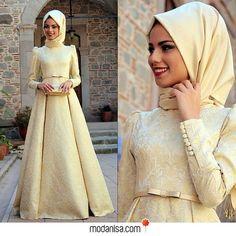 """2,660 Likes, 128 Comments - @modanisa on Instagram: """"Brokar desenli kumaşıyla dikkat çeken abiye elbise, özellikle kış düğünleri için çok şık bir…"""""""