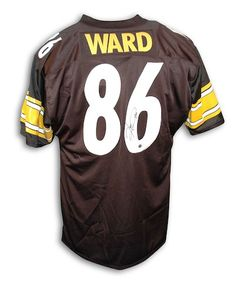 Autographed Hines Ward Pittsburgh Steelers Black Throwback Jersey