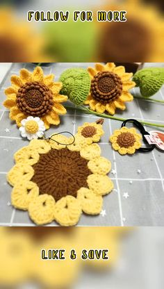 Single Crochet Stitch, Stitch Crochet, Crochet Stitches, Magic Ring Crochet, Crochet Magic Circle, Crochet Stars, Crochet Sunflower, Crochet Leaves, Crochet Flowers