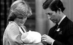 22 June 1982: The Prince and Princess of Wales show off their son, Prince William, to the media for the first time