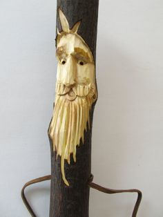 Walking Stick Hiking Stick Staff Hand Carved by NorthWindCarvings