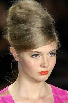 beehive and orange lips