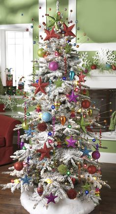 CHRISTMAS TREE~RAZ STARS Christmas Tree