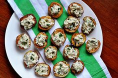 Mini potato boats... red potatoes stuffed with blue cheese, bacon and sour cream.  Portable potato salad.