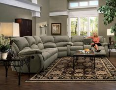 Southern Motion Cagney Collection Sofa. Comfy and convenient console sofa with reclining chairs and cup-holders.  Available at Turk Furniture: http://www.turkfurniture.com/item.aspx?itemid=-1864899226&itemnum=705-28