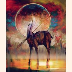 Deer  #myth  #hoooook #drawing #fantasy #character #illustration #digitalpainting #photoshop #instaart #instaartist #cgart #digitalart #painting #draw #wacom #illustagram #그림 #일러스트#conceptart  #artwork