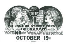 Suffragist poster, 1913