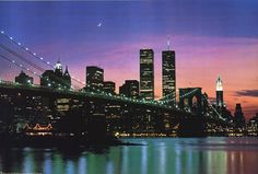 New York at Night (Twin Towers)