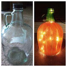 Carlo Rossi pumpkin bottle Fall Wine Bottles, Wine Bottle Corks, Painted Wine Bottles, Bottles And Jars, Decorated Bottles, Glass Bottles, Wine Jug Crafts, Vase Crafts, Wine Craft