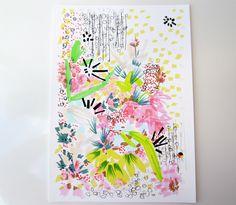 Floral Doodle 4 - Flower Illustration - Archival A4 Print from original illustration by StudioLegohead on Etsy https://www.etsy.com/listing/99550552/floral-doodle-4-flower-illustration