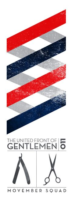 Barber shop vintage poster. A contemporary graphic take on the barber pole colours and stripes