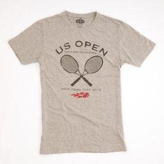 US Open of Tennis: Crossed Racquet Short Sleeve T-Shirt