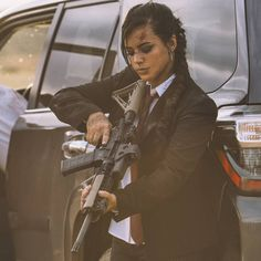 Designer Clothes, Shoes & Bags for Women Alex Zedra, Gunslinger Girl, Foto Gif, Female Soldier, Military Women, N Girls, How Many People, Dangerous Woman, Poses