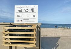 Cleanup stations installed at four Riverhead beaches - Riverhead News Review