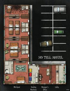 No Tell Motel; shadowrun, floorplan