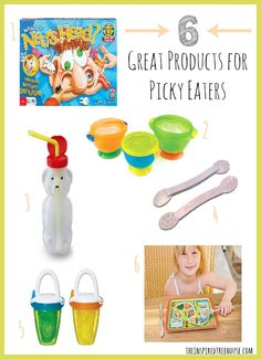 6 great products for picky eaters as recommended by pediatric occupational therapists.   #childdevelopment #sensory #pickyeaters