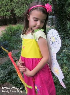 How To Make Fairy Wings And Wand - Family Focus Blog #DIY Craft