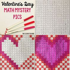 Valentine's Day Math! Students solve the addition or subtraction equation in each box. Then, they color according to the coloring key. This is a FUN way to build math fluency! NOTE: This store also has multiplication and division mystery pictures for every holiday. $