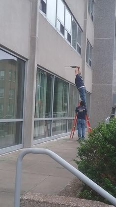 At least he has a spotter on the ladder. #forklift #osha #forkliftlicense #forklifttraining #forkliftcertification #forkliftlabs #safety