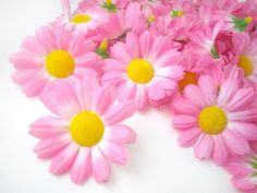 (100) Silk Pink Gerbera Daisy Flower Heads , Gerber Daisies - 1.75' - Artificial Flowers Heads Fabric Floral Supplies Wholesale Lot for Wedding Flowers Accessories Make Bridal Hair Clips Headbands Dress >>> For more information, visit image link.