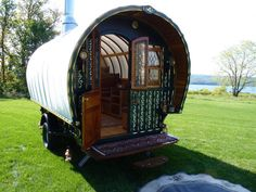 Hand-Built Gypsy Wagon Overflowing With Antique Detail by author and woodworker Jim Tolpin